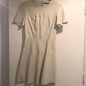 Zara off white faux leather dress